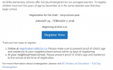 Kindergarten Registration for 2018 – 2019