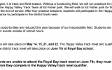 Track and Field for Happy Valley